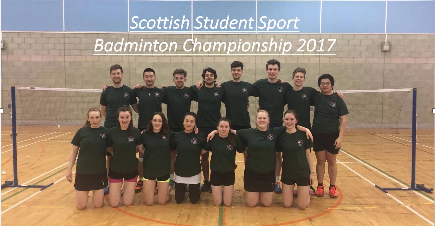 Scottish Student Sport Badminton Championship 2017 Report